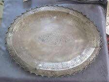 ARGENT MASSIF XIX INDE PLATEAU KUTCH KUTCH TRAY SOLID SILVER INDIA