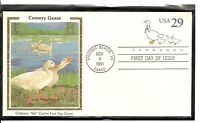 US Scott # U624 Country Geese FDC.  Colorano silk Cachet.