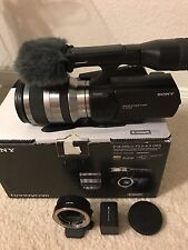 Sony NEX-Vg10 Cam W/ 18-200mm F3.5-6.3 OSS  Emount  With Sony Adapter Bundle
