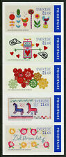 Sweden 2019 MNH Crafts Handicrafts Embroidery 5v S/A Strip Horses Flowers Stamps