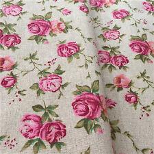 140cm Lino DECORATORE rosa tessuto fodera naturale resistente Cucire Artigianato