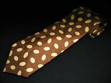 Burberry London Tie Brown Oval Pattern Printed 100% Authentic Designer Vintage