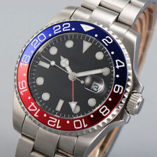 43mm parnis Sterile Dial Lume Sapphire Glass GMT Automatic Movement men's Watch