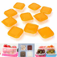 10Pcs Plastic Food Storage Boxes Containers Baby Snack Pots Home Kitchen Freezer