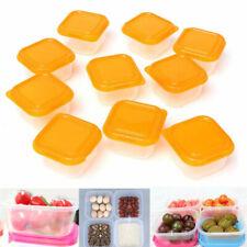 10pcs Mini Food Storage Container Plastic Boxes Baby Snack Feeding Freezer 100ml