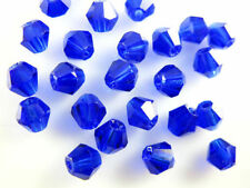 Bulk 30pcs Royal Blue Glass Crystal Faceted Bicone Beads 8mm Spacer Findings