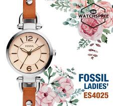 Fossil Georgia Mini Three-Hand Ladies' Leather Watch ES4025