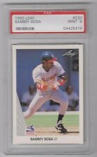 1990 Leaf #220 Sammy Sosa Rookie Chicago White Sox Graded PSA 9 Mint
