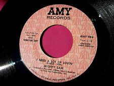 MIGHTY SAM - I Need a Lot of Lovin' / Talk to Me - Promo 45 rpm - Amy 984