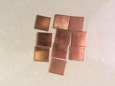 10x 20x20x1mm Heatsink Thermal Pad Copper Shim for Laptop CPU GPU
