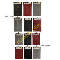 ANTI SLIP DOOR MAT RED GREY BLACK BEAM FEATURE COUNTRY CLUB EASY CLEAN