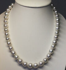 13.7mm! AUST SOUTH SEA PEARL NECKLACE 100% UNTREATED +18ct CLASP +CERT AVAILABLE