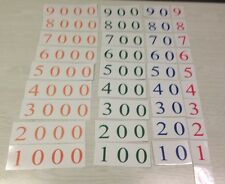 Number Cards (1-9000) Laminated Home School Or Classroom Supples