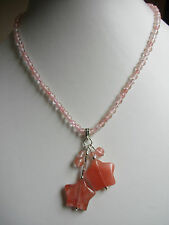 Cherry Quartz pendant stars necklace N307