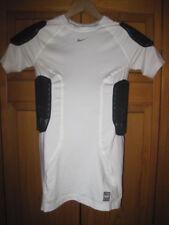 Nike Pro Combat Dri-Fit padded football shirt kids boys XL white