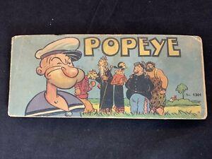 Vintage 1934 Golden Era Long Comic Popeye King of Popilania 1301 Antique LG RR2