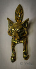 Vintage Brass Fox Door Knocker Heavy Collectable Door Furniture