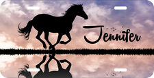 PERSONALIZED LICENSE PLATE CUSTOM CAR TAG NOVELTY GALLOPING HORSE SILHOUETTE