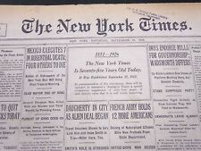 1926 SEPTEMBER 18 NEW YORK TIMES - THE NY TIMES IS 75 YEARS OLD TODAY - NT 5287