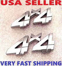 X2 Chrome 4 X 4 EMBLEM 4X4 car CHEVROLET TRUCK SUV badge logo ornament DECAL n.