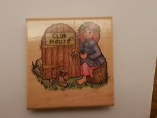Pippyswoggins 'Lily Christina' Rubber stamp, Cute!