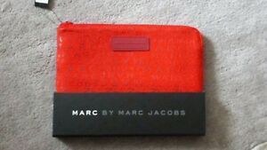 MARC BY MARC JACOBS Jumbled logo mini-tablet case (Cabernet+red+multi) AUTHENTIC