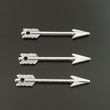 100pcs Vintage Silver Alloy Nice Arrow Pendants Charms Fashion Jewelry 34086