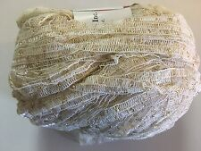 Lucci Metallic Ribbon Yarn #1 Ecru / Gold 50 gram 139 yards - Wool, Nylon, Metal