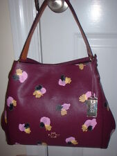NWT Coach Floral Edie 31 Hobo Shoulder Handbag 37160 Plum Field Floral