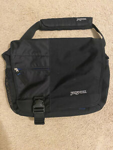 Jansport Messenger Bag Blue/Black In Used Condition. Comes With A Small Pouch