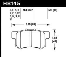 Hawk Disc Brake Pad Rear for 91-17 Acura ILX & RSX / Honda CR-Z & Civic & S2000