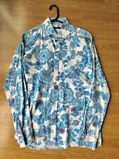 BURBERRY London Men's Floral Print Spell Out Monogram Dress Shirt Size 15 1/2 39