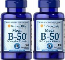 2X Vitamin B-50 Complex 50 mg x 100 ( 200 ) Capsules - 24HR DISPATCH