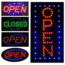 Ultra Bright Led Neon Light Business Sign Animated Motion Display Open With Onoff