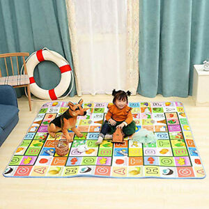 Foldable Kids Activity Mat Baby Toddlers Crawling Care Play Mat Foam Rug 2 Side