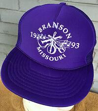 Branson Missouri Tourist Banjo Guitar Snapback Baseball Cap Hat 1993
