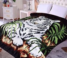 Hiyoko White Tiger Animal Mink Blanket Throw Bedspread Comforter Coverlet 90x75