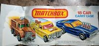MATCHBOX 1976 18 Car Carry Case Decal Sticker UNUSED Lesney Production Corp.