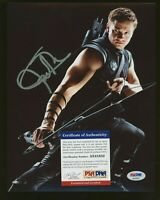 JEREMY RENNER Signed 8x10 Photo Avengers: Endgame Autographed PSA/DNA COA