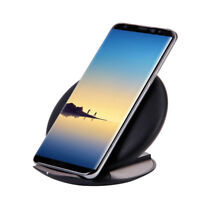 Qi Fast Cargador Inalámbrico Carga Rápida Base para Samsung Galaxy Note 8 S8