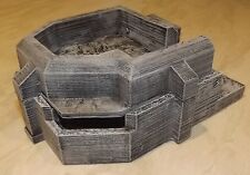 SCALA 28mm GIOCHI DI GUERRA terreno ATLANTIC Muro Flak Cannon BUNKER
