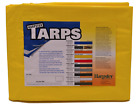 12' x 20' High Visibility Yellow Poly Tarp- Waterproof Camping Boat Cover Triage