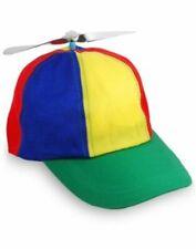 Multi-Color Propeller Cap Adult Helicopter Hat Tweedledum Tweedledee Nerd Clown