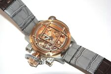 Invicta 16374 Mens 52mm Russian Diver Nautilus Swiss Made Mechanical Leather Strap Watch