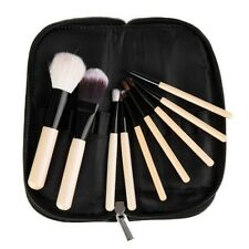 9pcs Professional Goat Hair Soften Pro Makeup Travel Brushes Set +Brush Case New