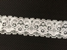 Stretch lace trim WHITE  1 1/4 in. width 20 yards for  $3.00