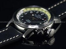 NEW Glycine 42mm AIRMAN World Traveler Swiss Made GMT Black Dial SS Watch 3939
