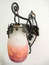 MULLER FRÈRES FRES LUNÉVILLE LAMPE EN FER FORGÉ ÉPOQUE ART NOUVEAU ÉPOQUE 1900.