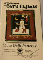 """Love Quilt Patterns- Cat's Pajamas- Quilted Wall Hanging Pattern 22.5 X 25.5"""""""