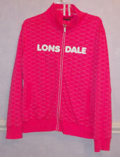 Ladies LONSDALE hot pink zipped Jacket Size14
